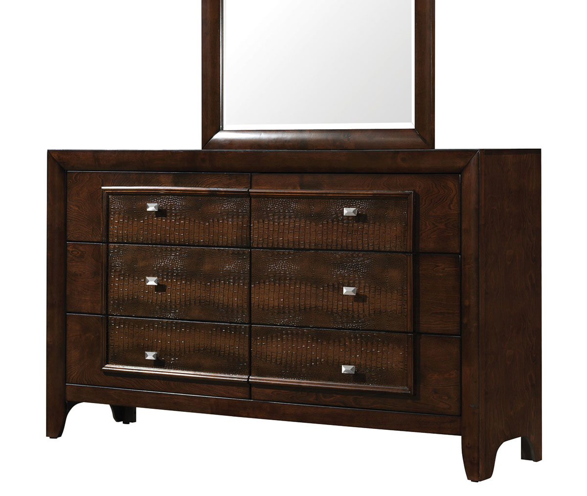Coaster Marshall Dresser - Brown Crocodile