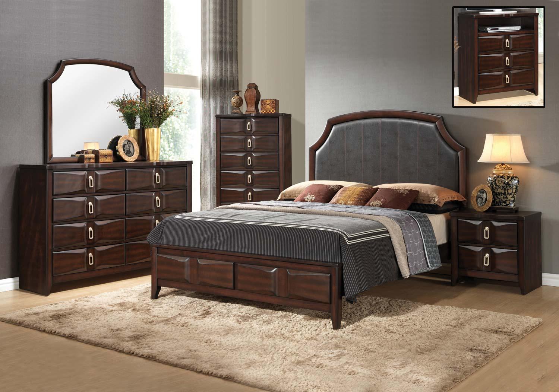 coaster casper bedroom set oak