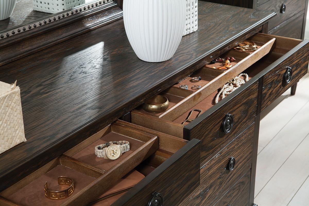 Coaster Saville Dresser - Brushed Dark Oak