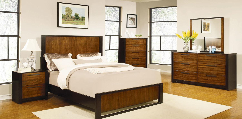 Coaster Coronado Bedroom Collection Natural Cherry Cappuccino 203941 Bed Set At