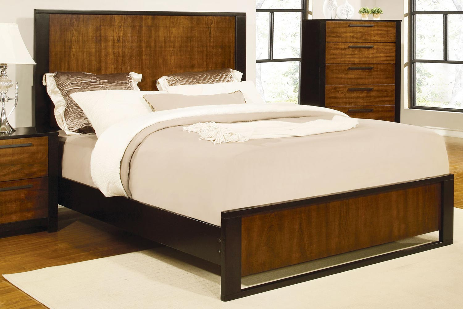 Coaster Coronado Bed - Natural Cherry/Cappuccino