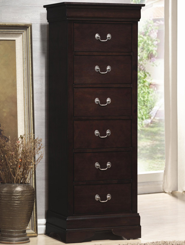 Coaster Louis Philippe 6 Drawer Lingerie Chest in Cappuccino