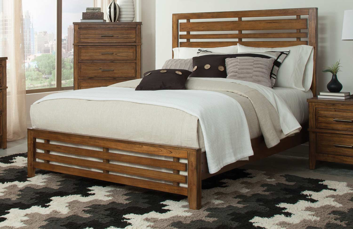 Coaster Cupertino Bed - Antique Amber