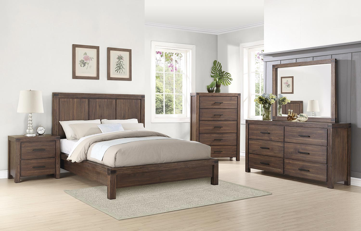 Coaster Lancashire Platform Bedroom Set Cinnamon BEDROOM SET at Home