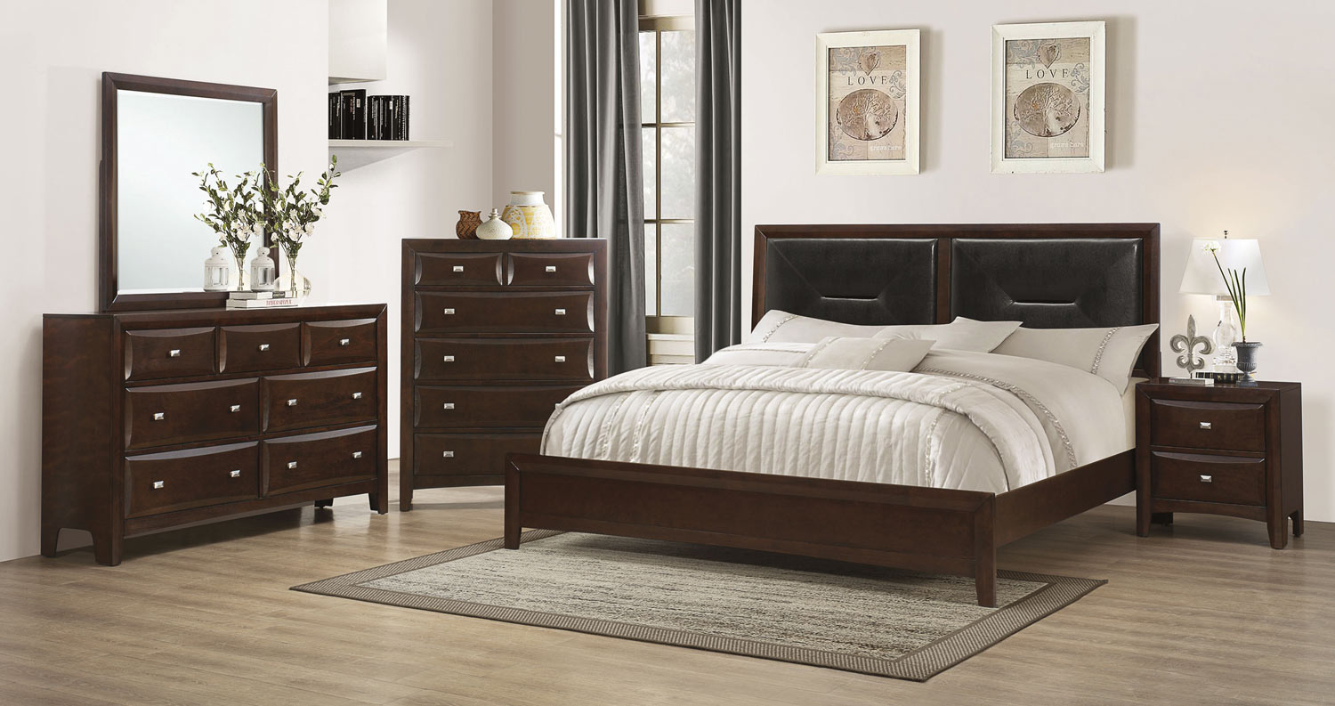 Coaster Cloverdale Upholstered Bedroom Collection - Cappuccino
