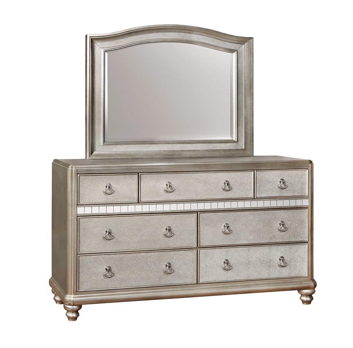 Coaster Bling Game Dresser - Metallic Platinum