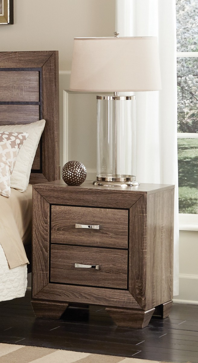 Coaster Kauffman Night Stand - Washed Taupe