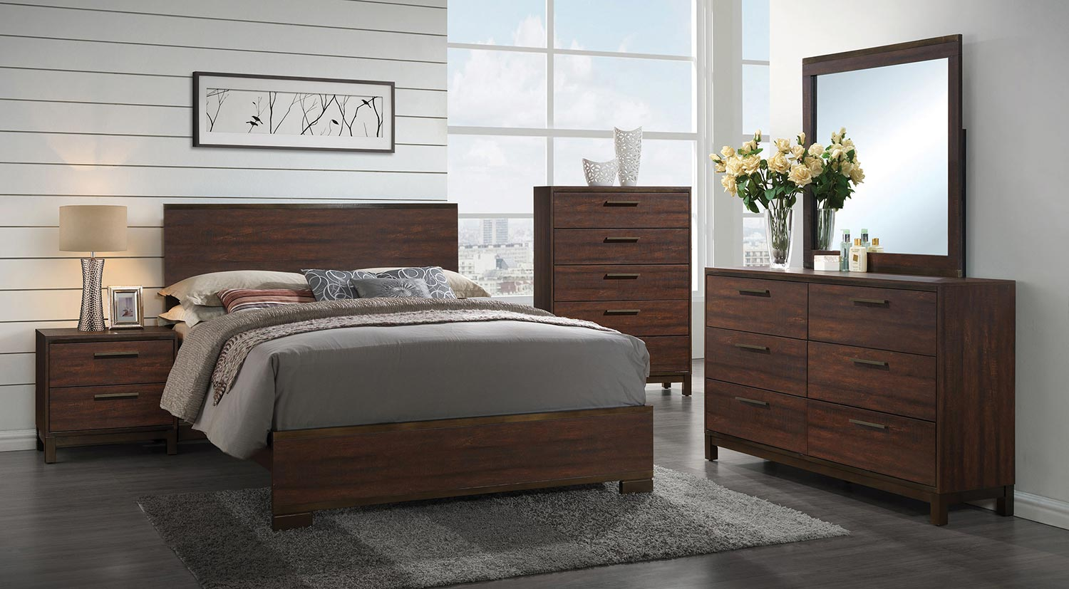 Coaster Edmonton Bedroom Set Tobacco BEDROOM SET at Homelement