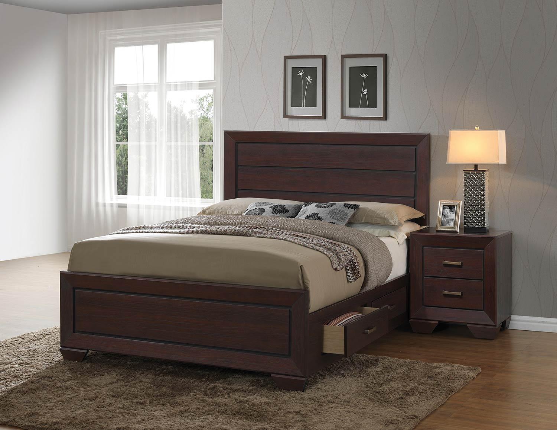 Coaster fenbrook bedroom set dark cocoa 204390 bedroom set at for Coaster bedroom furniture reviews