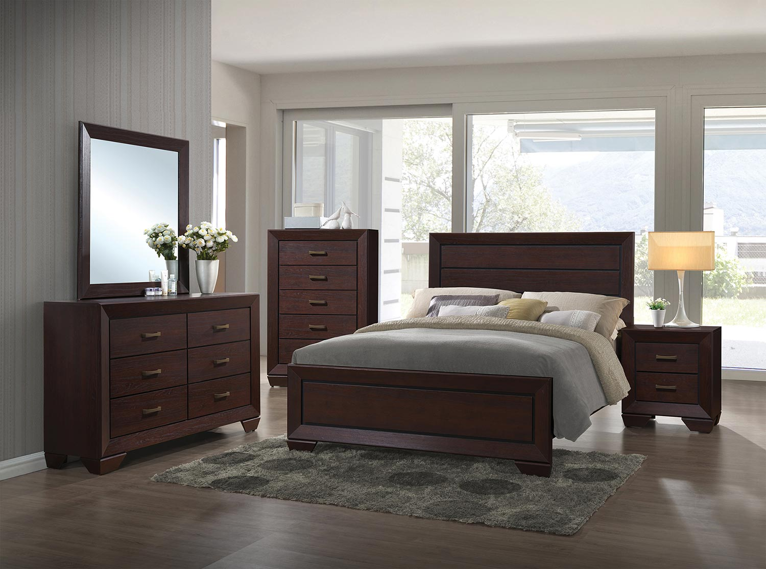 Coaster Fenbrook Bedroom Set - Dark Cocoa