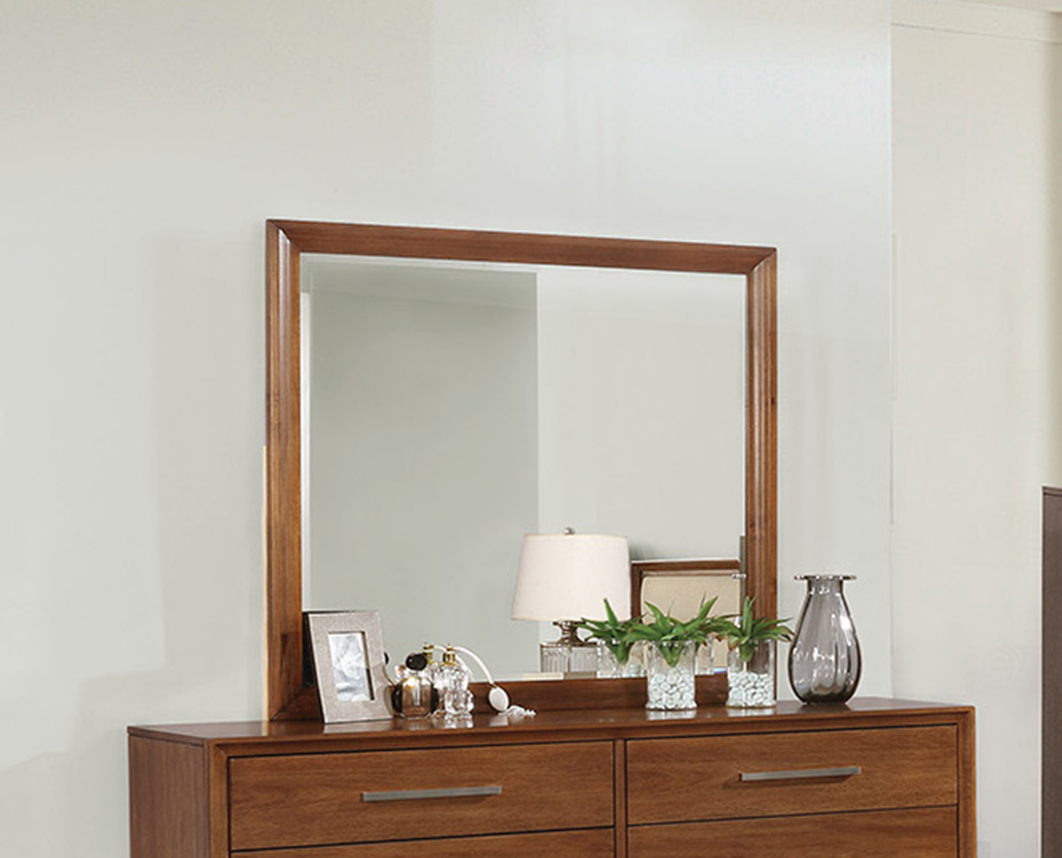 Coaster Banning Mirror - Cream Leatherette