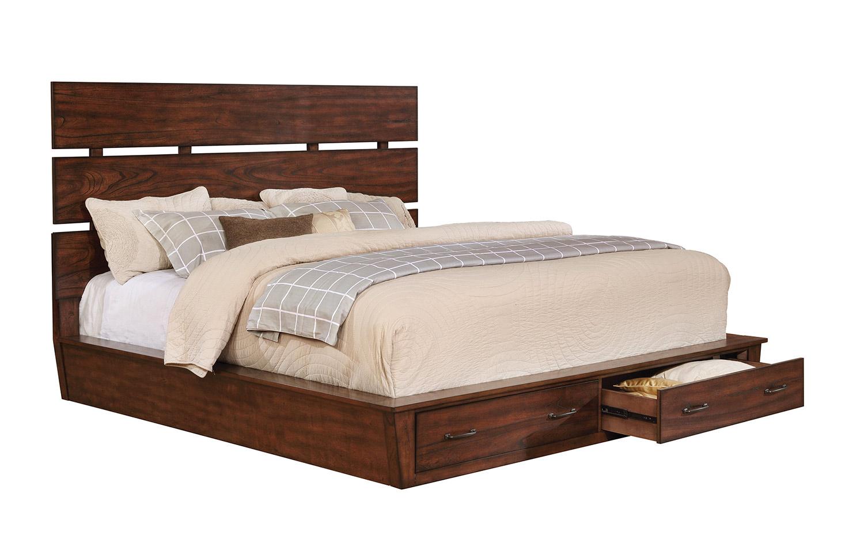 Coaster Artesia Platform Storage Bed - Dark Cocoa