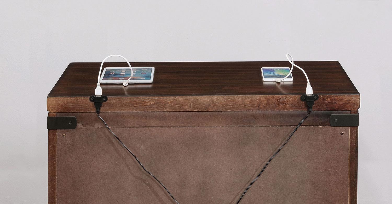 Coaster Artesia 3 Drawer Nightstand - Dark Cocoa