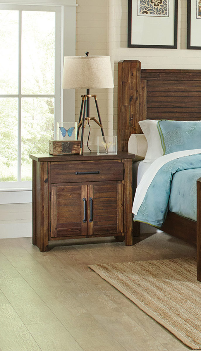 Coaster Sutter Creek Nightstand - Vintage Bourbon