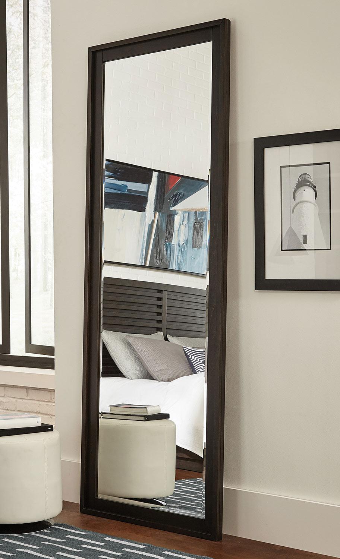 Coaster Matheson Floor Mirror Graphite 204557 At