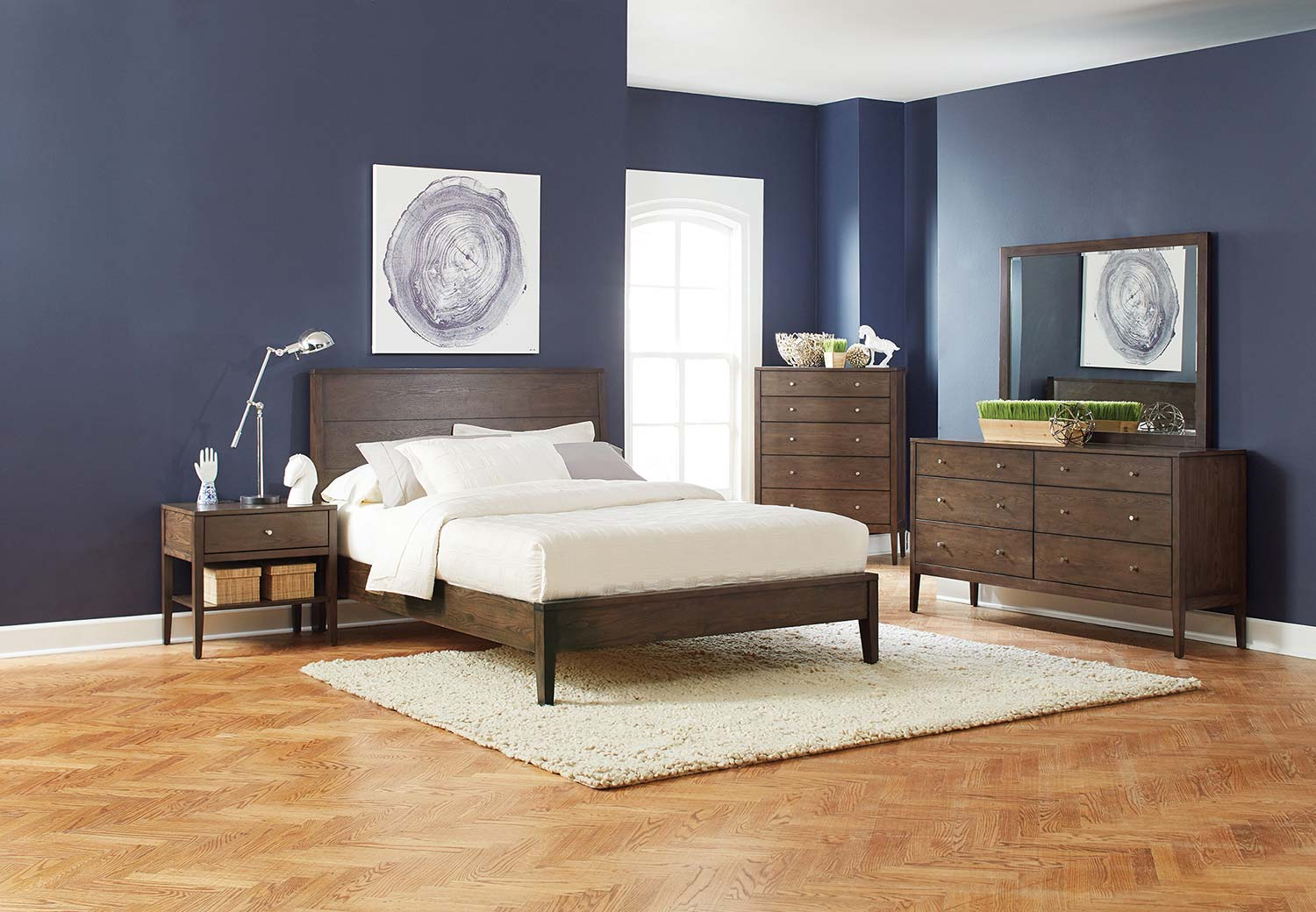 Coaster Lompoc Bedroom Set - Ash Brown