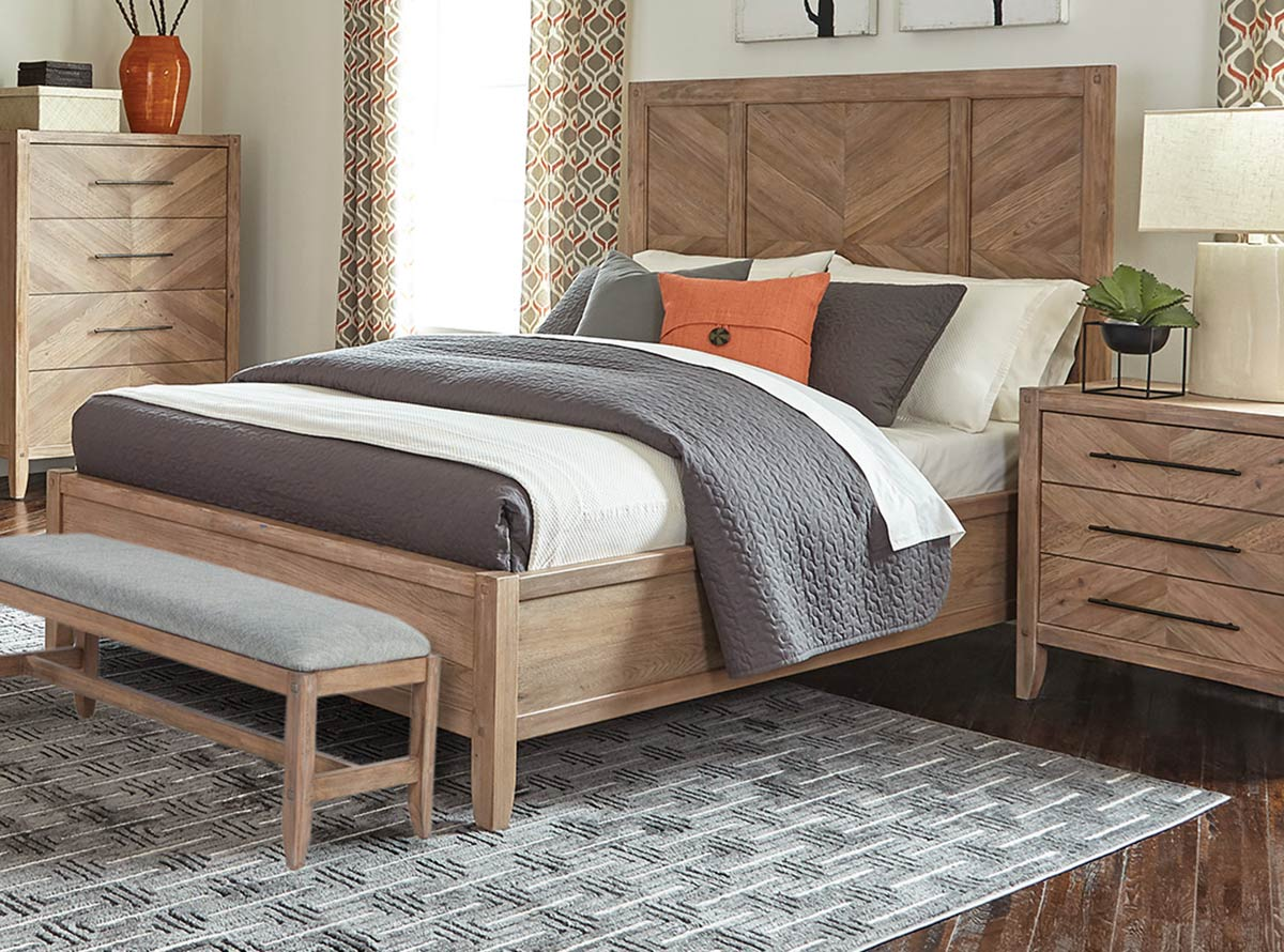 Coaster Auburn Bed - White Washed Natural