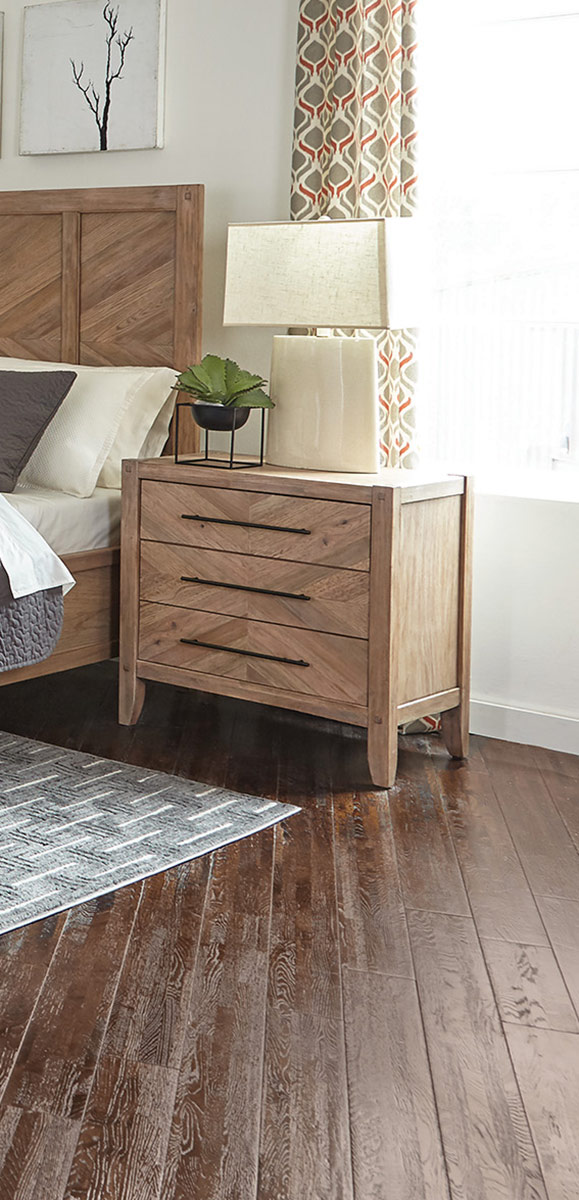 Coaster Auburn Nightstand - White Washed Natural