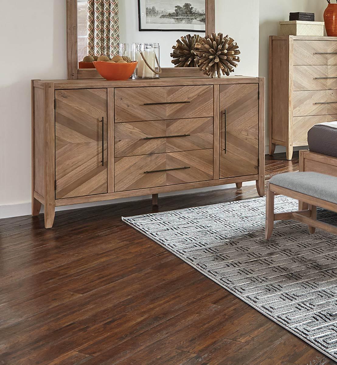 Coaster Auburn Dresser - White Washed Natural