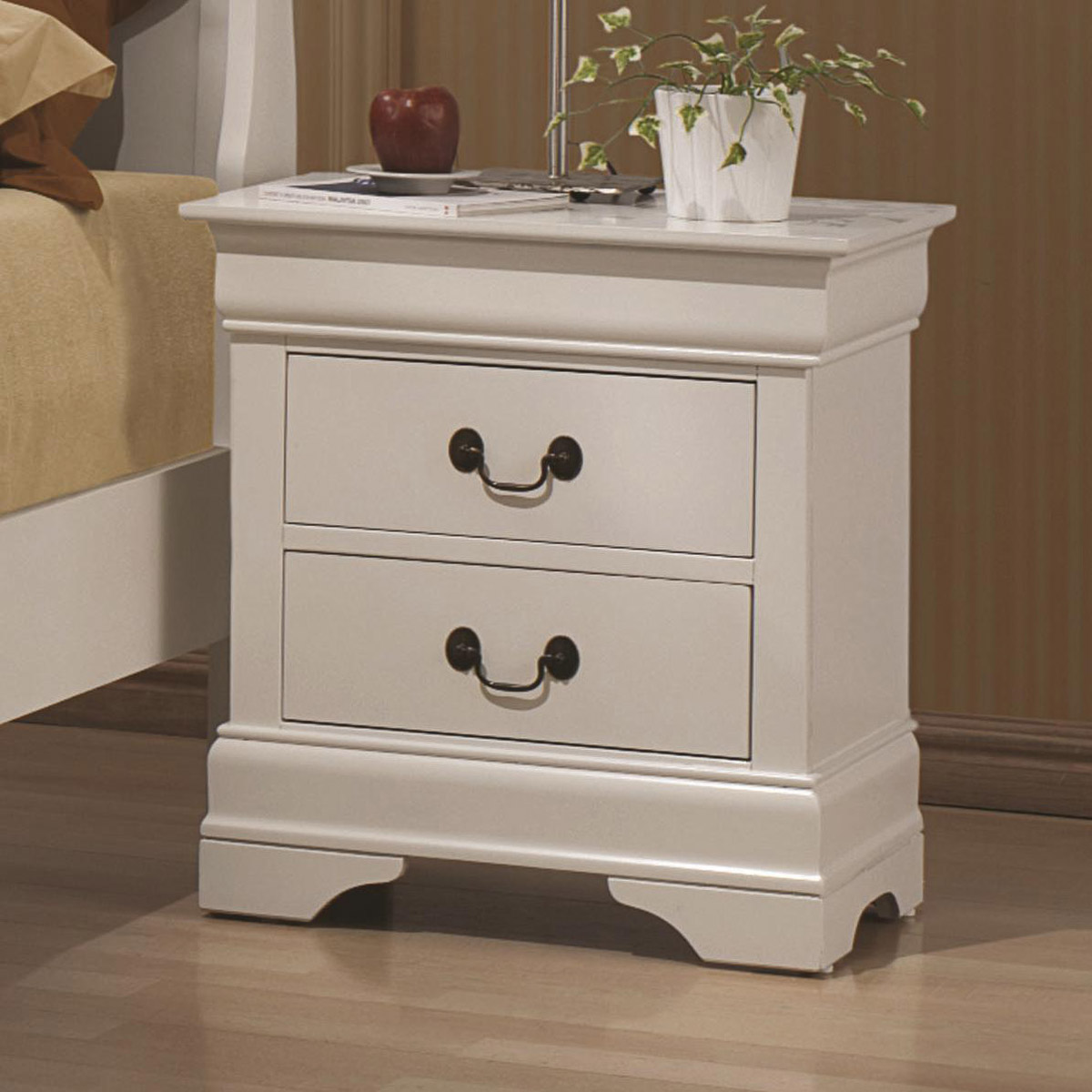 Coaster Louis Philippe Night Stand - White
