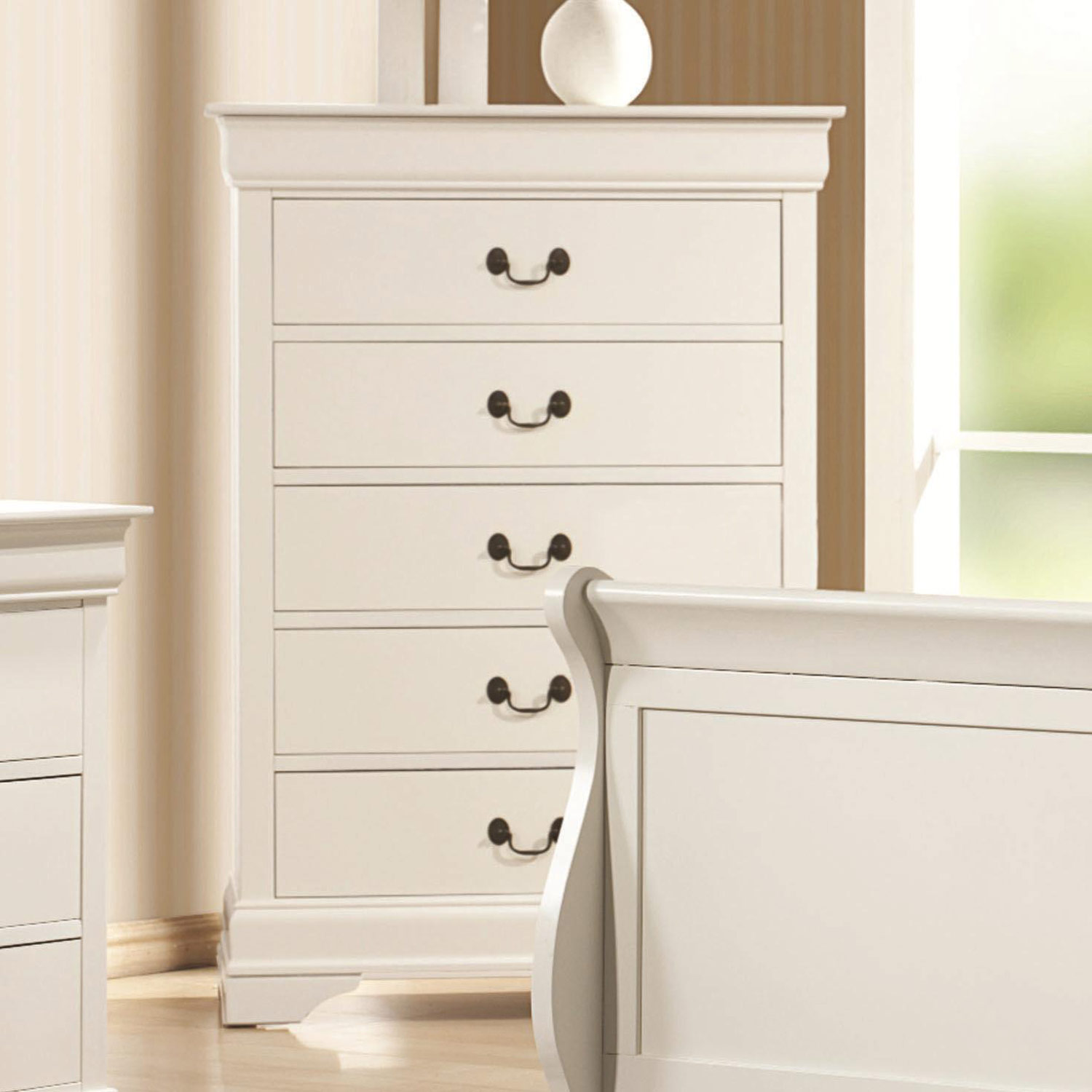 Coaster Louis Philippe Chest   White