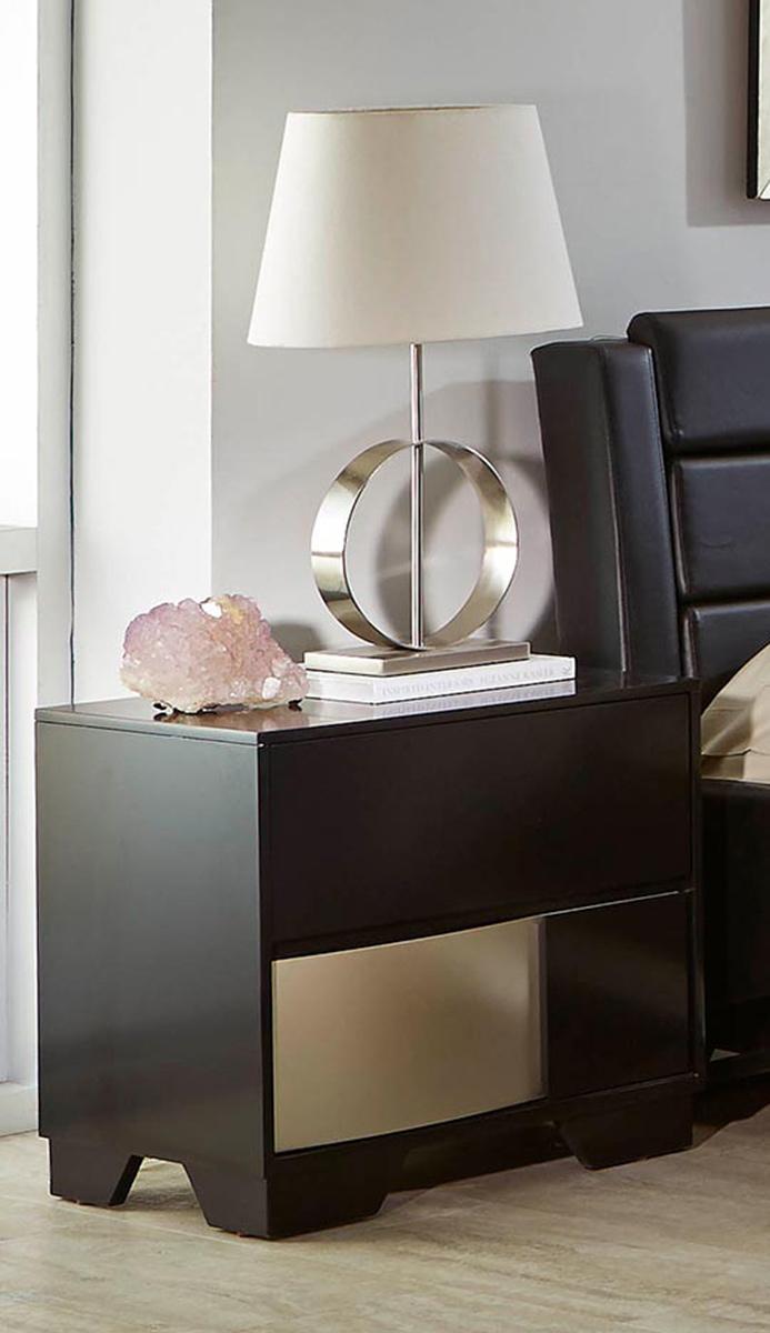 Coaster Havering Nightstand - Black/Sterling