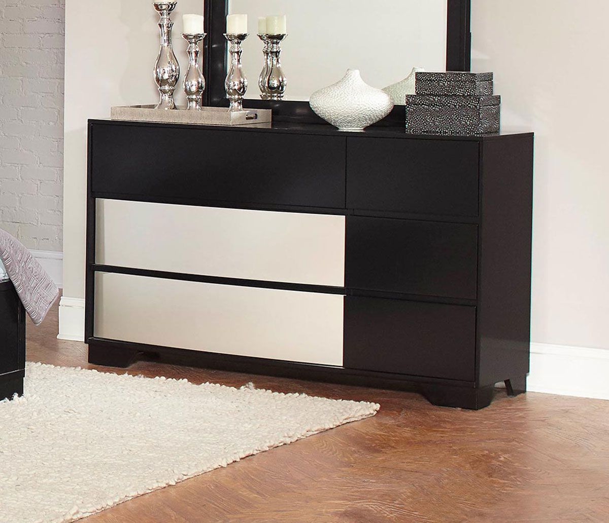 Coaster Havering Dresser - Black/Sterling