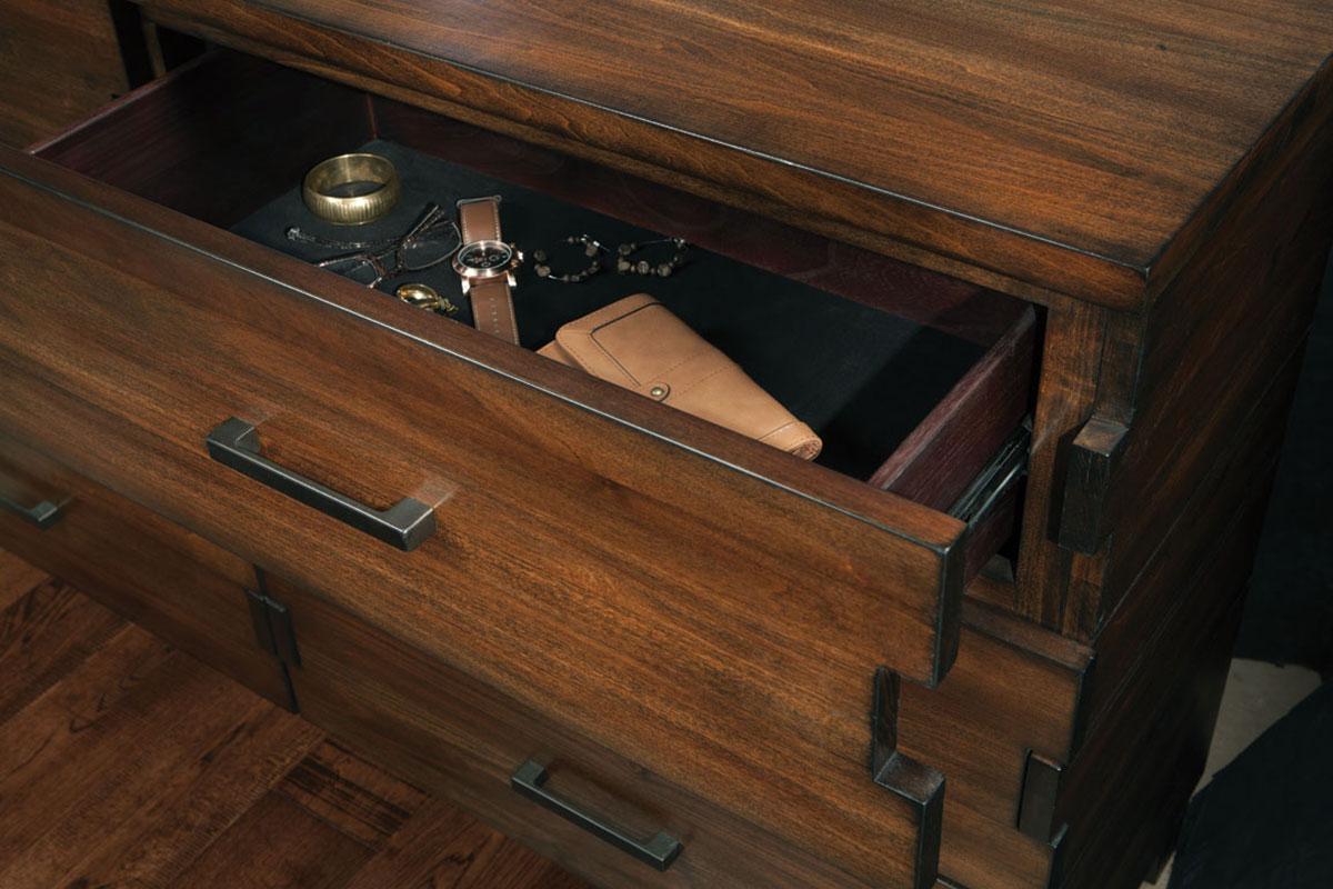 Coaster Yorkshire Dresser - Dark Amber/Coffee Bean