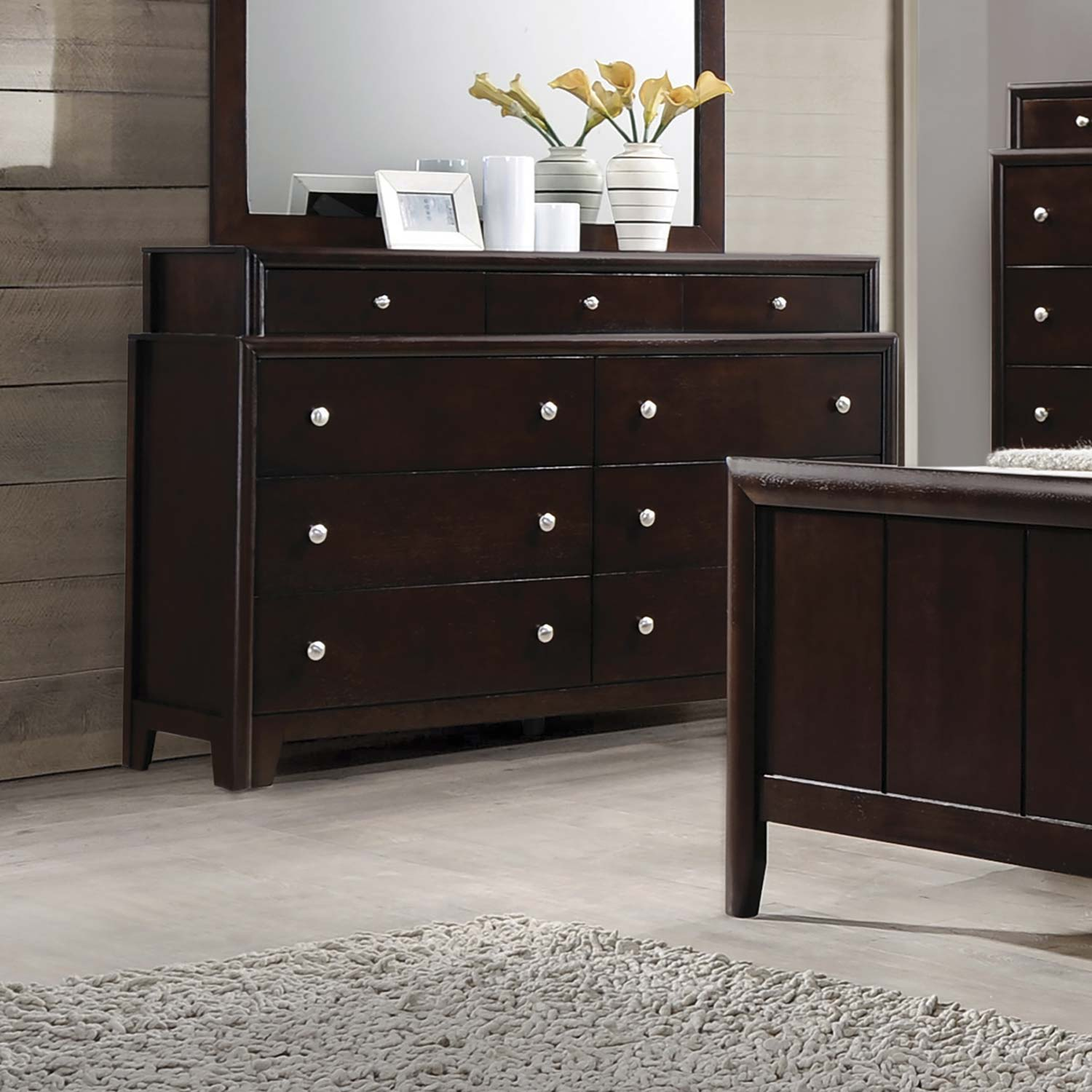 Coaster Madison Dresser - Dark Merlot