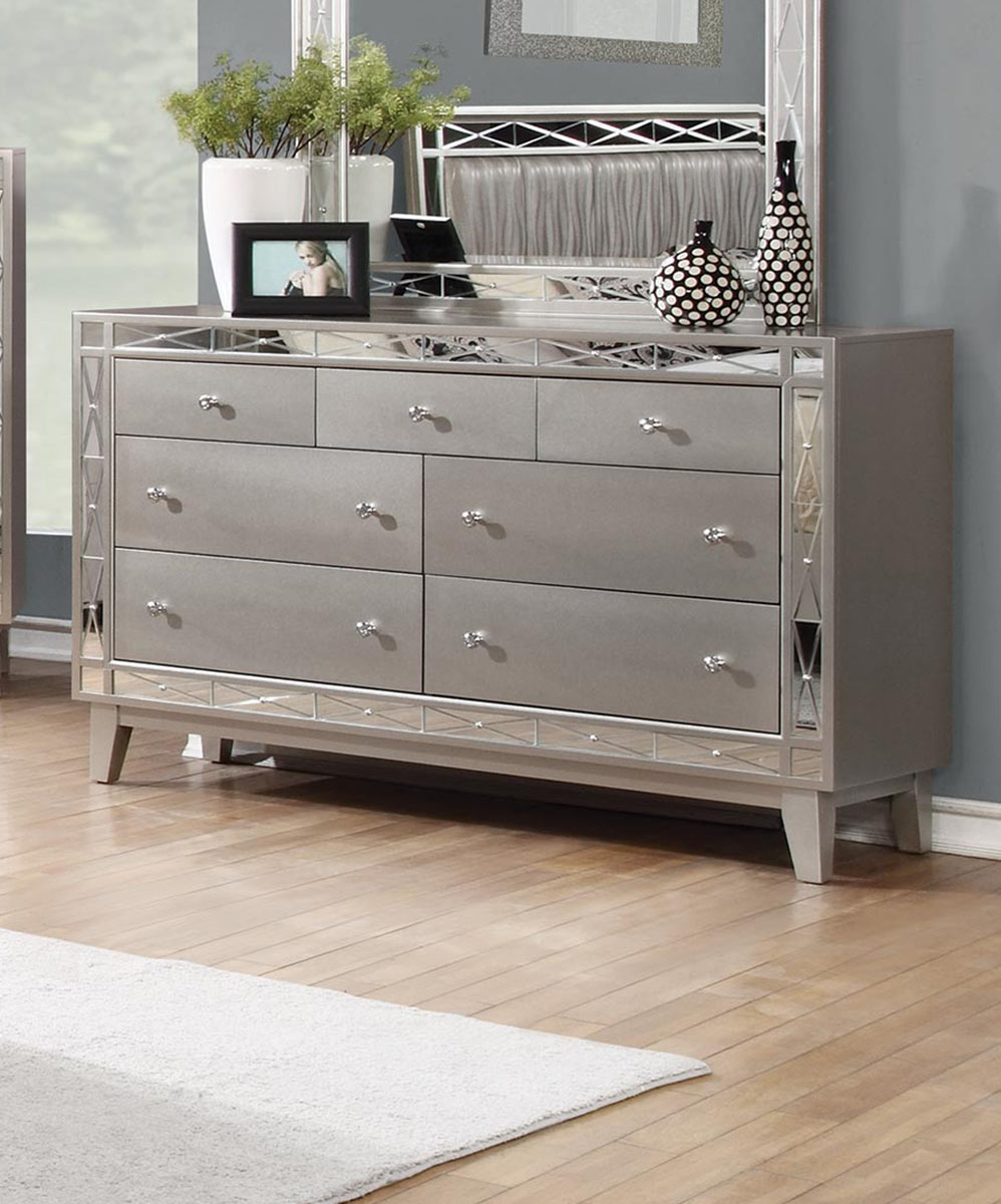 Coaster Leighton Dresser - Metallic Mercury