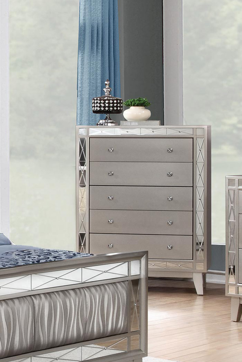 Coaster Leighton Chest - Metallic Mercury