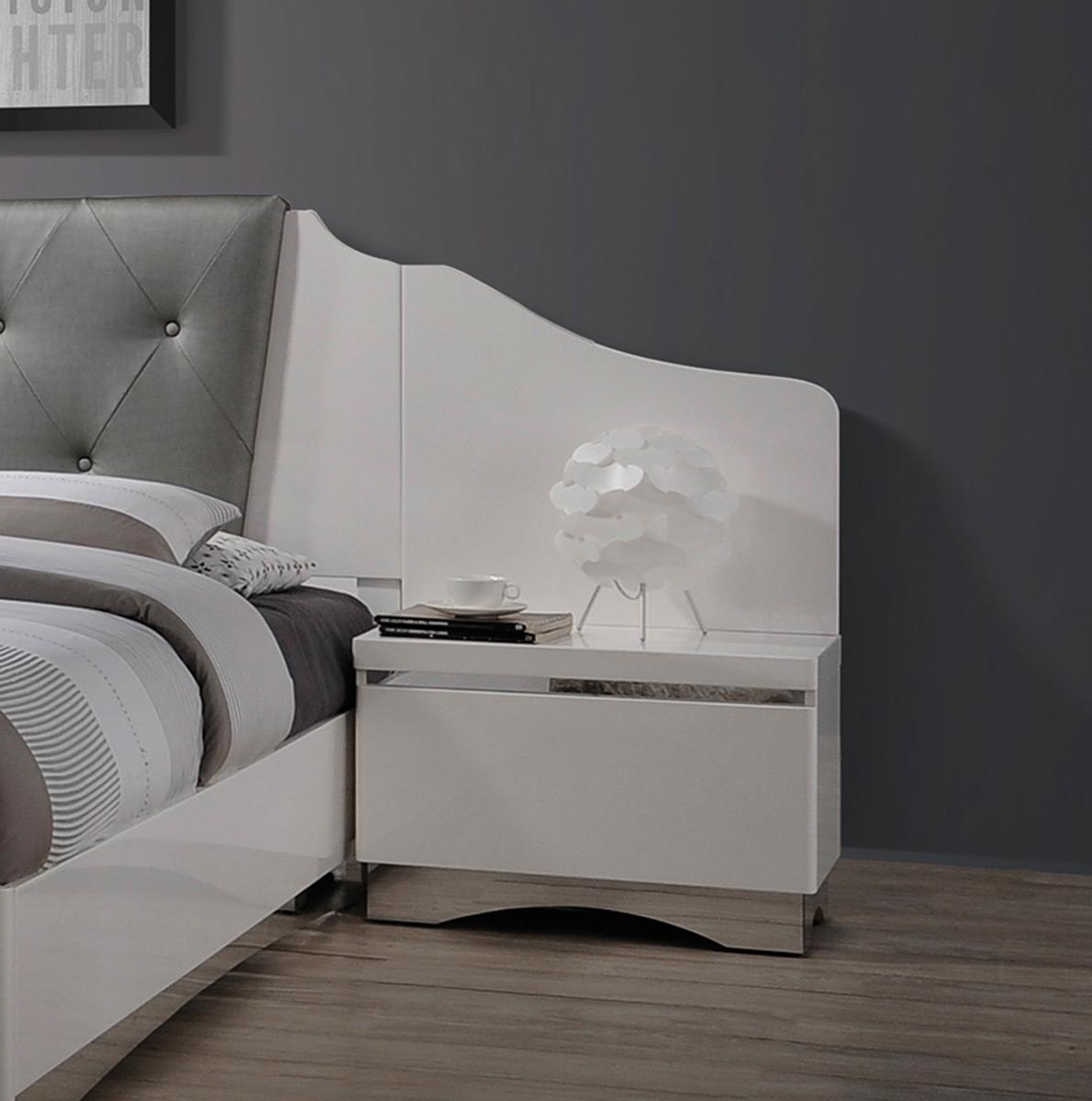 Coaster Alessandro Nightstand - Glossy White
