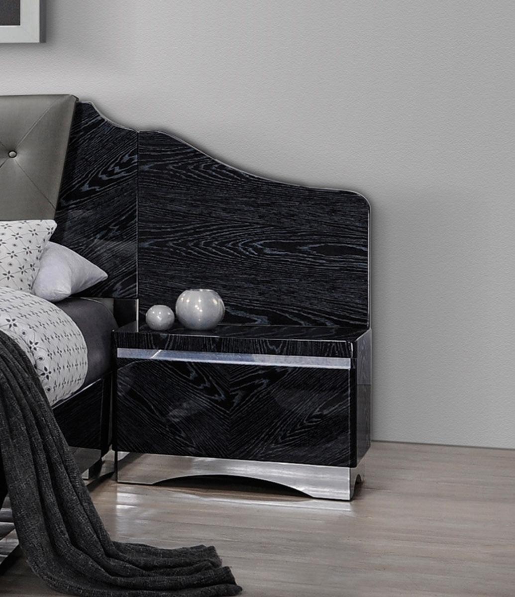 Coaster Alessandro Nightstand - Glossy Black