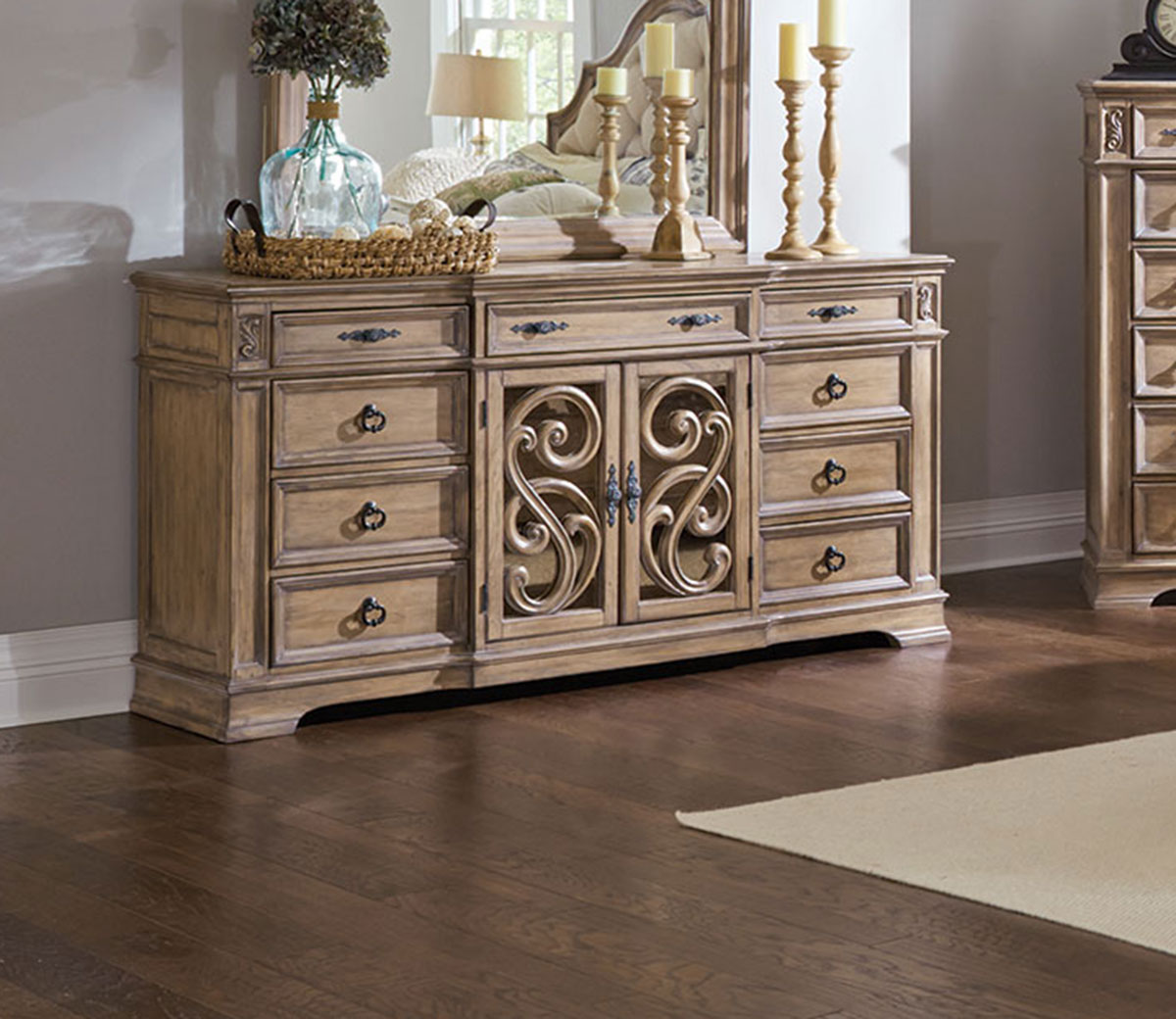 Coaster Ilana Dresser - Antique Linen