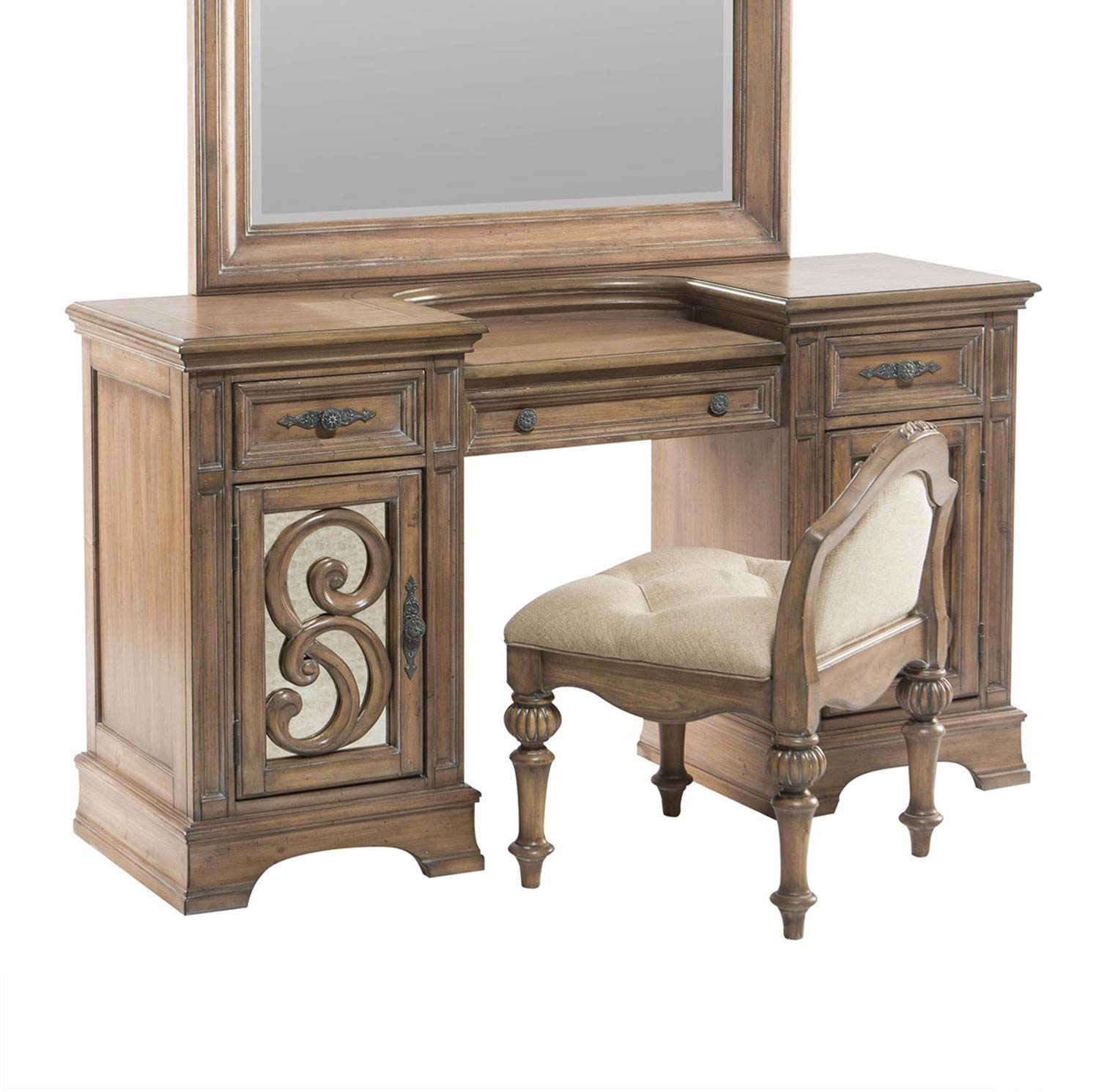 Coaster Ilana Vanity Desk - Antique Linen