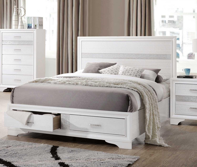 Coaster Miranda Storage Platform Bed - White