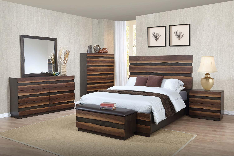 walnut bedroom set. Coaster Octavia Bedroom Collection  Coffee Sappy Walnut 205121
