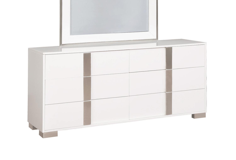 Coaster Traynor Dresser   Glossy White. Coaster Traynor Dresser   Glossy White 205203 at Homelement com