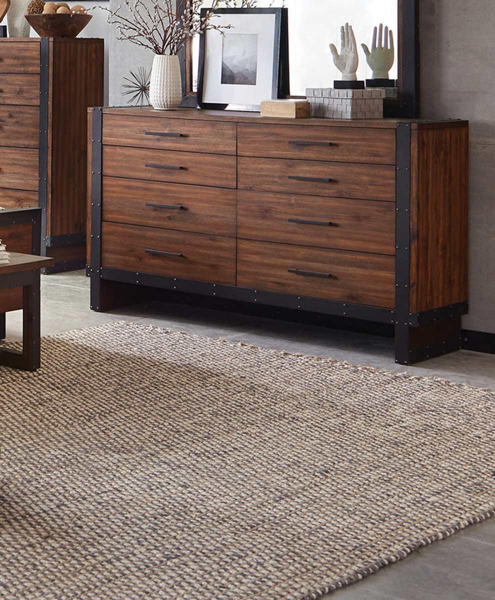 Coaster Ellison Dresser - Bourbon Brown