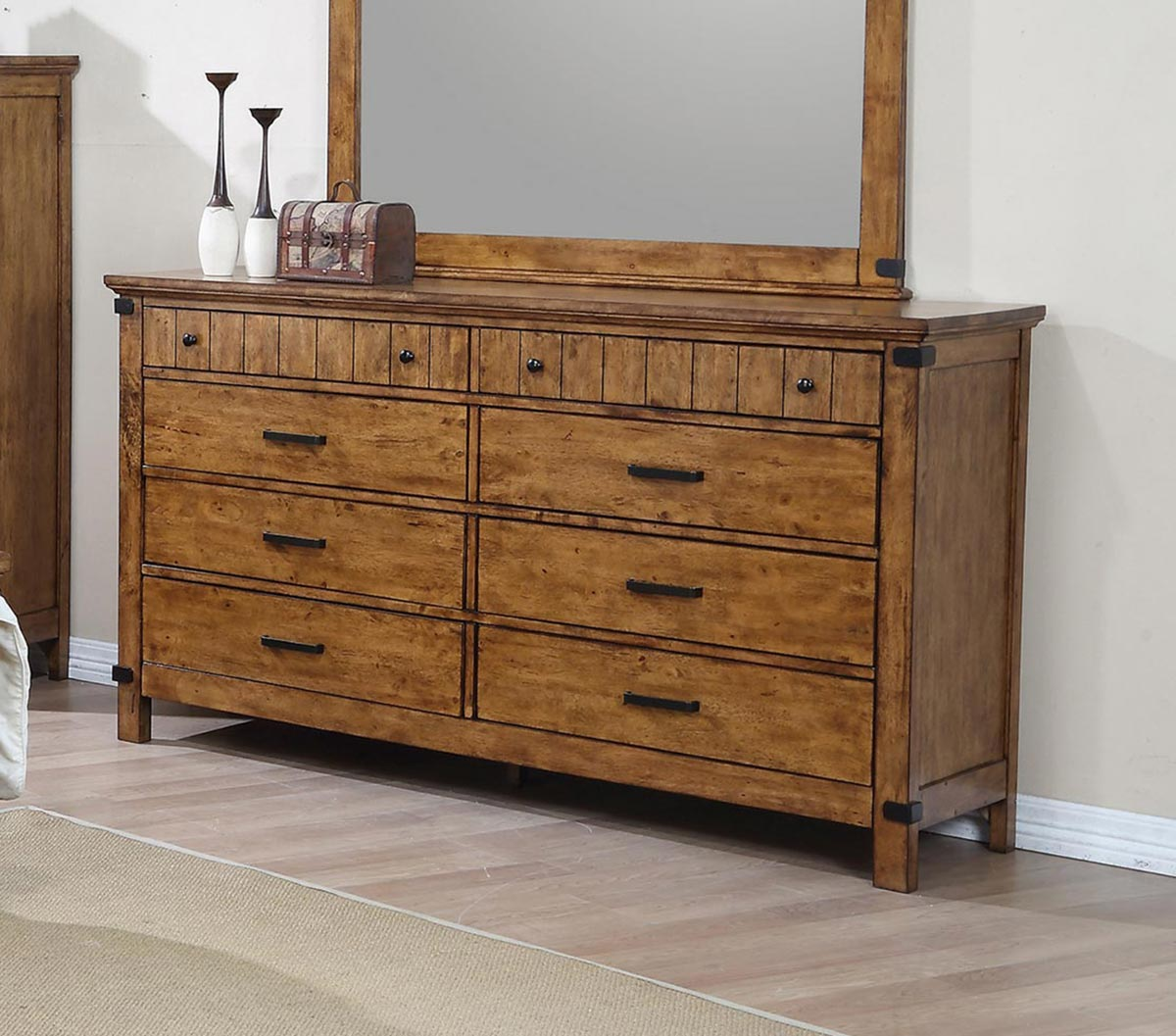 Coaster Brenner Dresser - Rustic Honey
