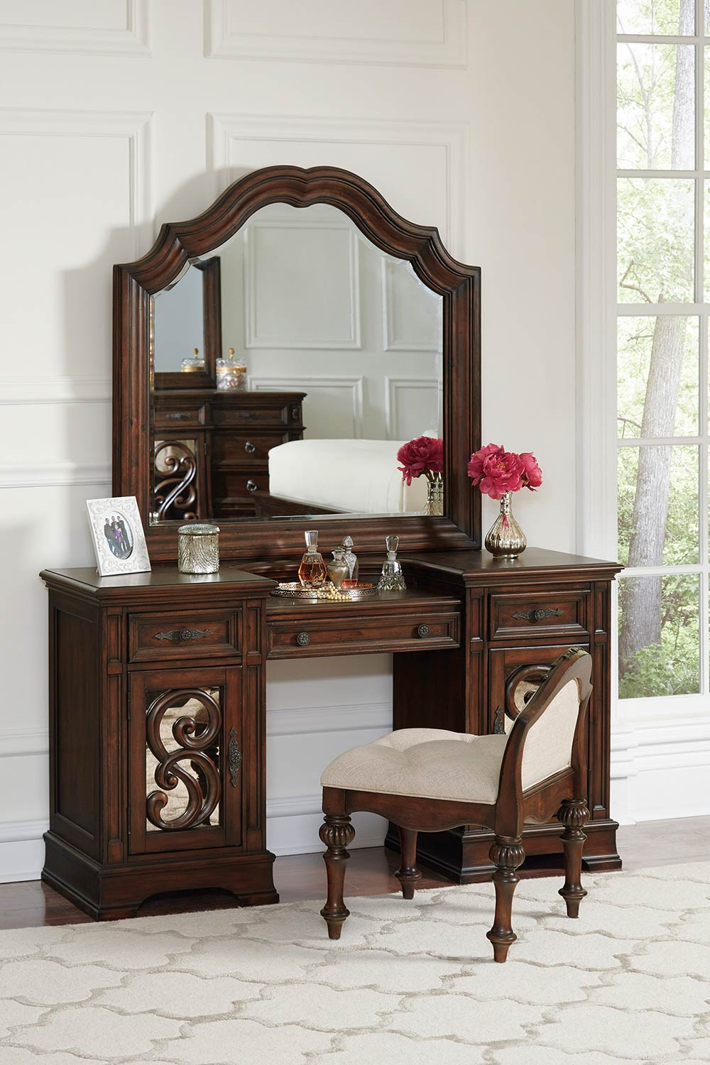 Coaster Ilana Vanity Desk Set - Antique Java