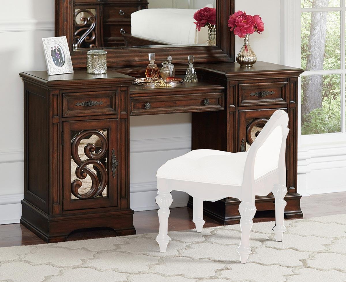 Coaster Ilana Vanity Desk - Antique Java