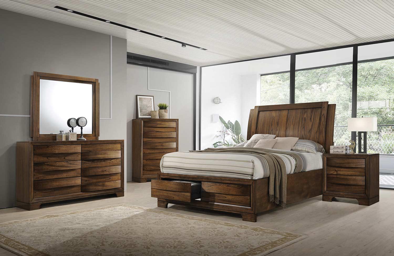 Coaster Hunter Bedroom Set - Cognac