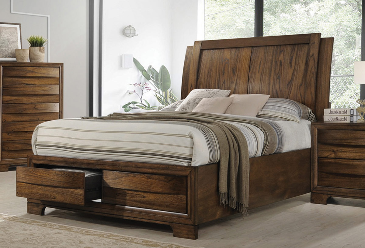Coaster Hunter Bed - Cognac