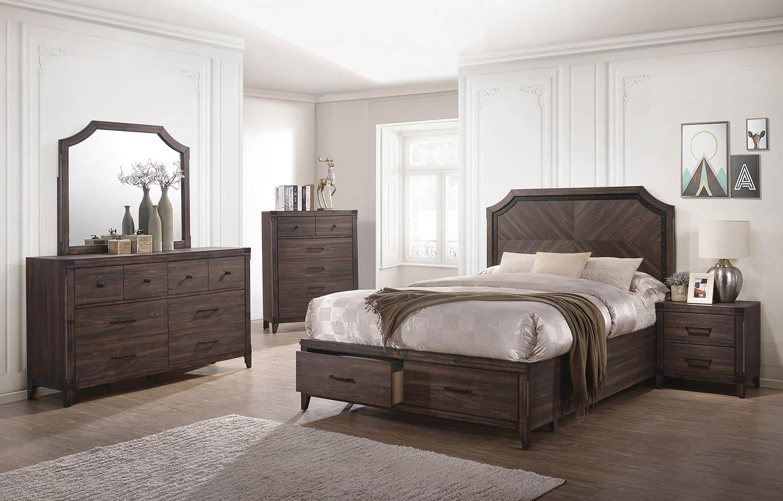 Coaster Richmond Bedroom Set - Dark Grey Oak
