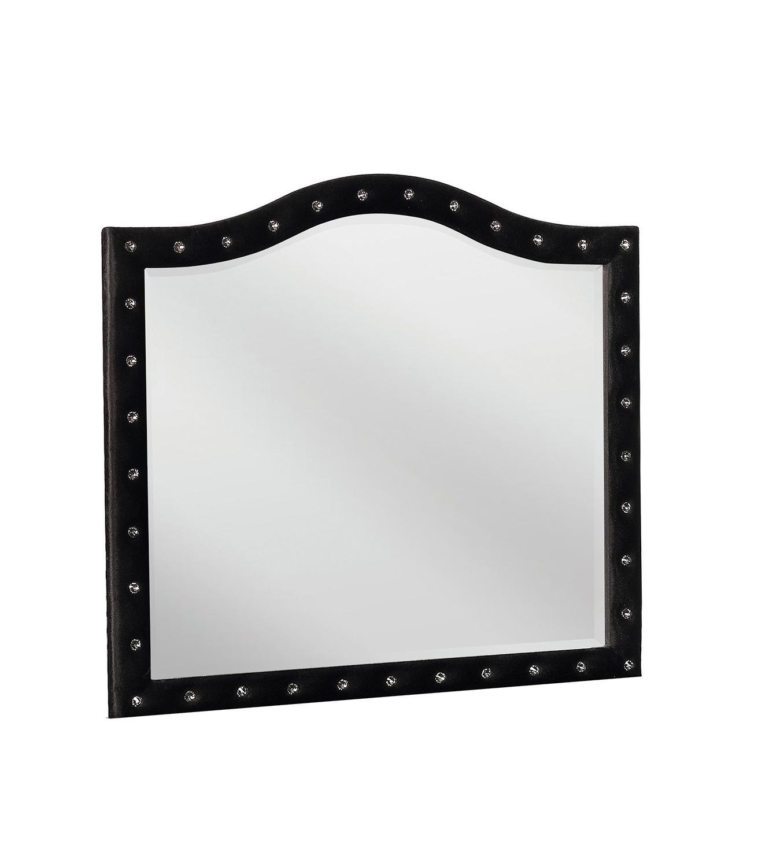 Coaster Deanna Mirror - Black Velvet/Metallic Legs