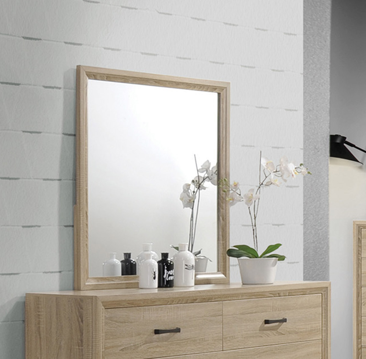 Coaster Vernon Mirror - White Washed Oak