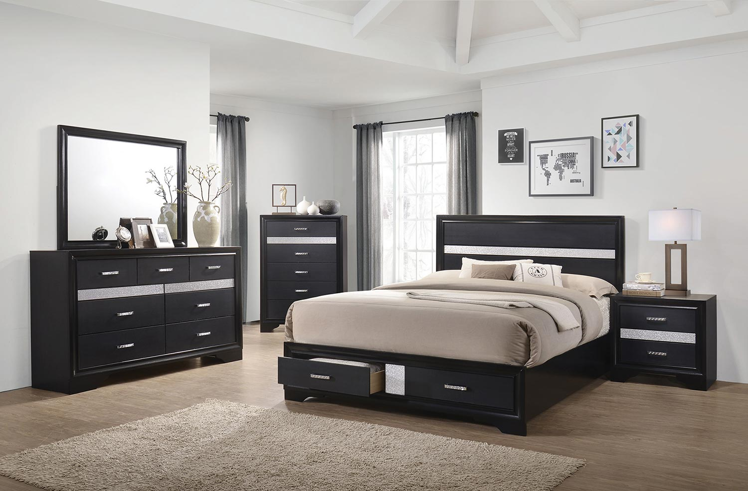 Coaster Miranda Bedroom Set - Black