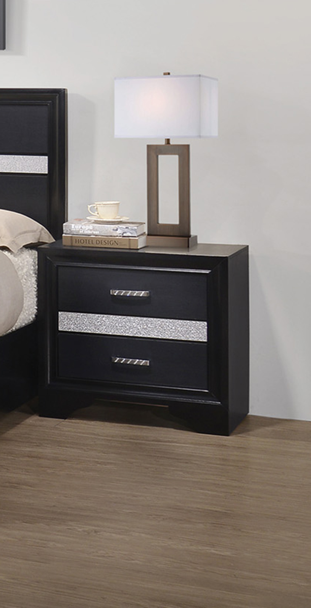 Coaster Miranda Nightstand - Black