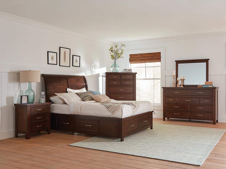 Coaster Barstow Storage Bedroom Set - Pinot Noir